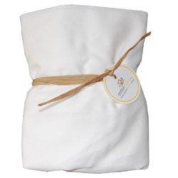 Cotton Monkey Pure White Organic Fitted Crib Sheet
