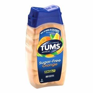 Tums Extra Strength Sugar Free Antacid/Calcium Supplement