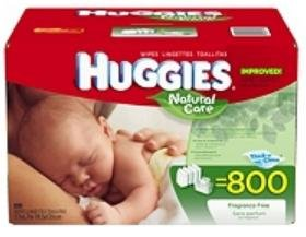 Huggies Natural Care Baby Wipes Hypoallergenic Fragrance Free