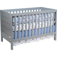 Baby Mod - Modena 3-in-1 Fixed Side Crib, Cool Grey