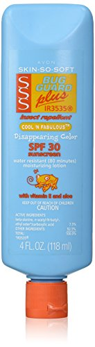 Avon Skin-So-Soft Bug Guard Plus SPF 30 Cool 'n Fabulous Disappearing Color Sunscreen Lotion