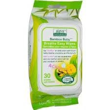 Bamboo Baby Breathe Easy Travel Nose Wipes by Aleva Naturals