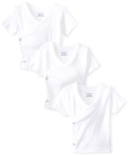 Gerber Newborn Short Sleeve Side Snap Shirt