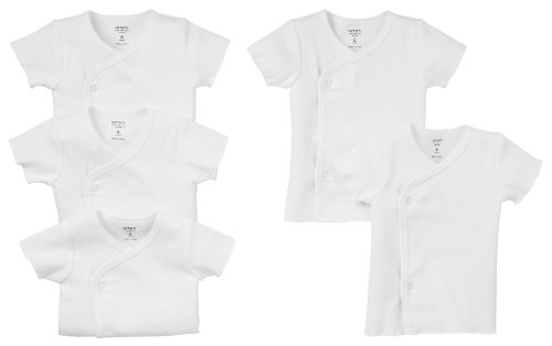 Carter's 5-Pack Side Snap Tee - White- 3 Months