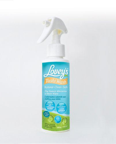 Lovey's Tushi Wash Spray - All Natural Diaper Spray That Eliminates Rashes Caused By Baby Wipes