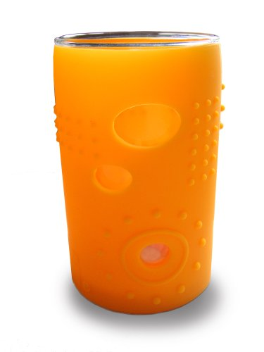 Silikids Siliskin Glass Cup with Silicone Sleeve