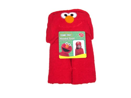 Sesame Street Elmo Kids Hooded Bath, Pool or Beach Towel
