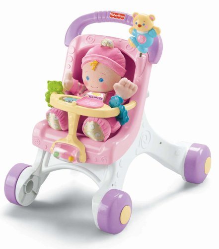 Fisher-Price Brilliant Basics Stroll-Along Walker