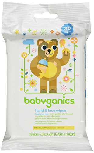 Babyganics Hand and Face Baby Wipes