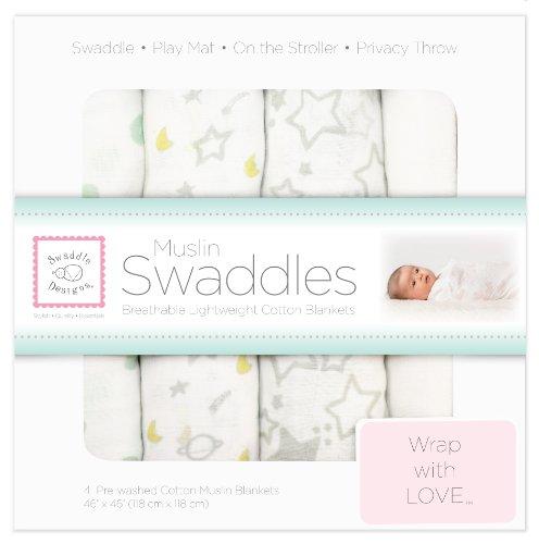SwaddleDesigns Muslin Swaddle Blanket