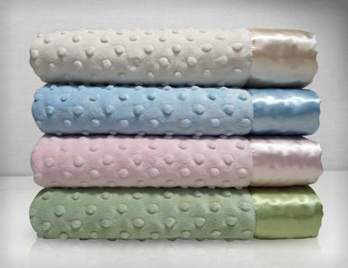 My Blankee Dot Velour Stroller Blanket