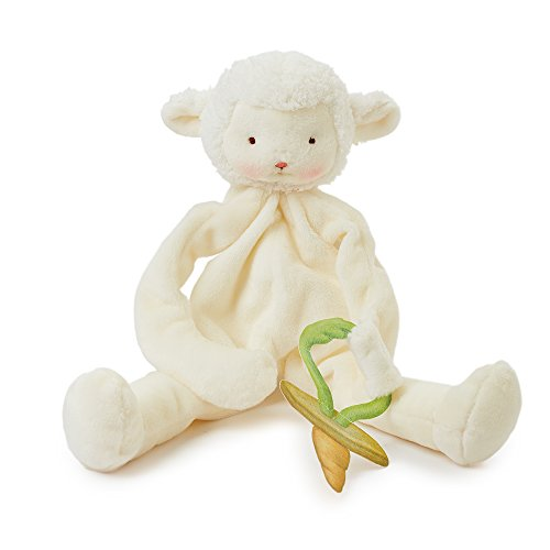Bunnies By The Bay Kiddo Lamb Silly Buddy with Pacifier Holder