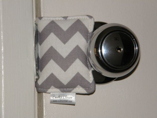 The Original Cushy Closer Door Cushion (Gray Chevron)