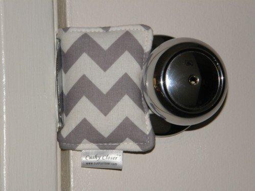 The Original Cushy Closer Door Cushion (Gray Chevron)