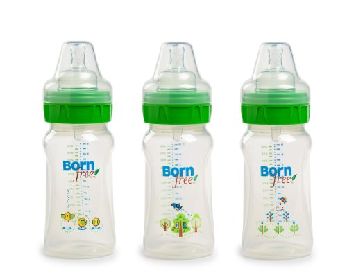 Born Free BPA-Free Decorated Bottle with ActiveFlow Venting Technology