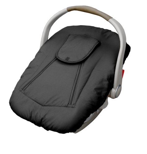 Jolly Jumper Arctic Sneak A Peek Infant Car Seat Cover Black