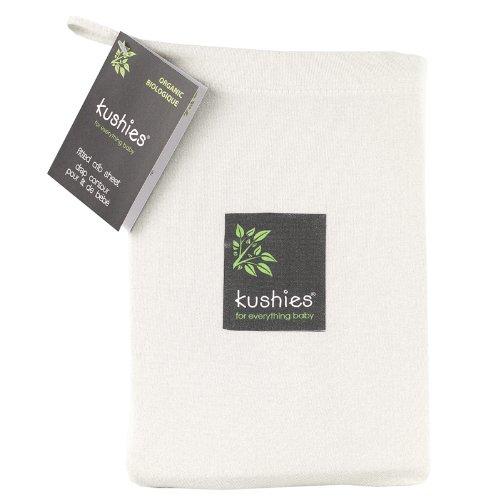 Kushies Organic Jersey Crib Fitted Sheet, Off-White