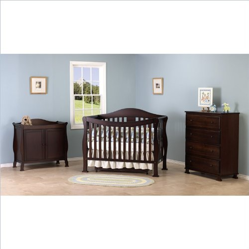 DaVinci Parker 3-PC Convertible Crib Nursery Set w/ Toddler Rail