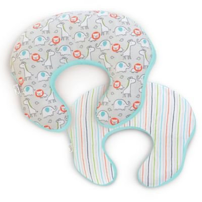 Comfort & Harmony's Mombo Covered Nursing Pillow In Safari 'n Stripes