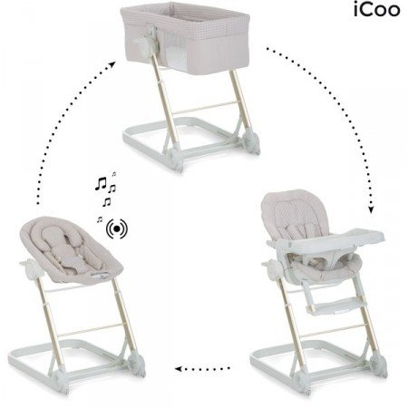 iCoo Grow With Me 123 High Chair/Rocker/Crib