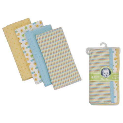Gerber Flannel Burp Cloths