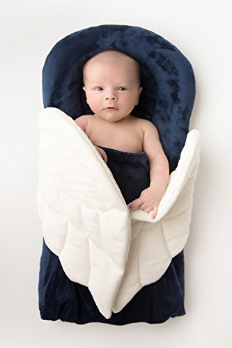Angels on My Pillow Wrapaboo New Classic Collection Royal Navy w/ Tote