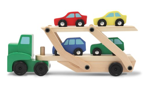 Melissa & Doug Car Carrier Truck & Cars Wooden Set