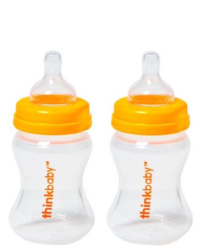 Thinkbaby 2 Pack BPA Free Vented Baby Bottles