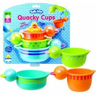 Stack, Drain And Squirt - Alex Jr. Tub Joy Quacky Cups Bath Toy