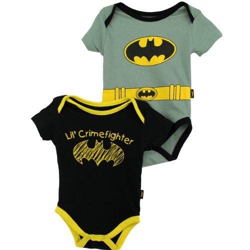 "DC Comics Batman ""Lil' Crimefighter"" Infant Bodysuit Creeper Set"