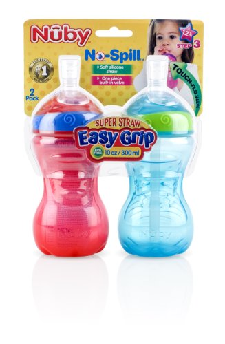 Nuby Super Straw Easy Grip Cup