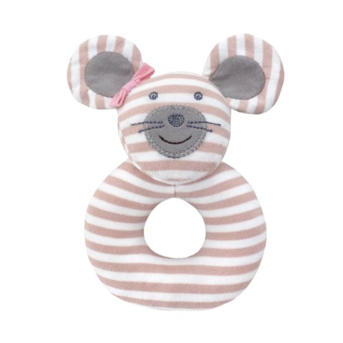 Organic Farm Buddies Rattle - Ballerina Mouse