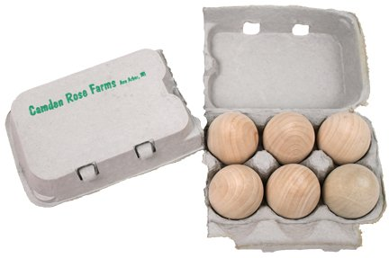 Good Wood Eggs, Six in a Recyclable Carton