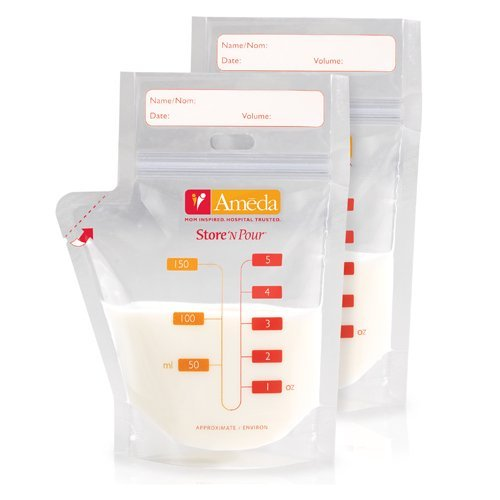 Ameda Store N Pour Breast Milk Storage Bags