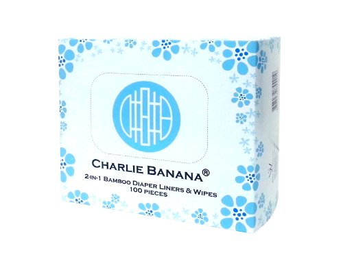 Charlie Banana 2-in-1 Diaper Liners and Wipes