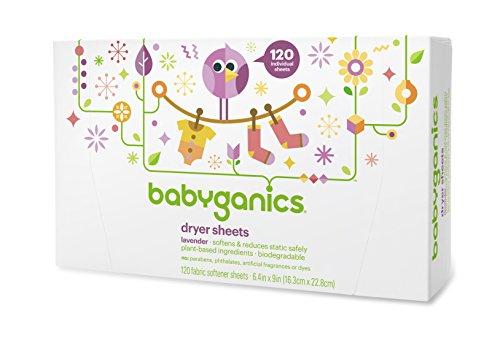 BabyGanics Loads of Love Fabric Softener Dryer Sheets