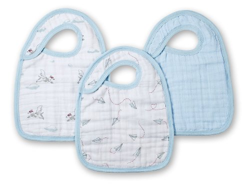 aden + anais 100% Cotton Muslin Snap Bib