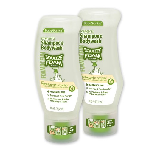 BabyGanics Foamin' Fun Foaming Body Wash & Shampoo