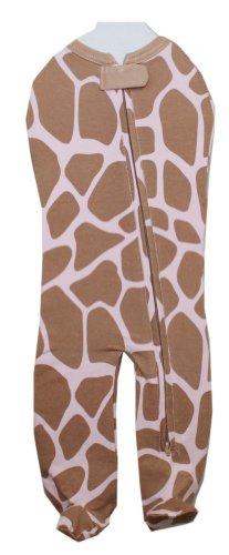 Woombie Leggies Baby Cocoon Swaddle with Legs (Newborn (5-13 lbs), Pink Giraffe)