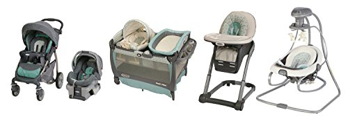 Graco Winslet Stroller, Car Seat, Pack 'n Play, High Chair & Rocker Combo