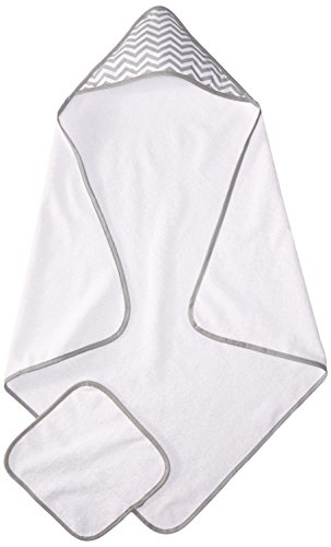 American Baby Company 100% Organic Cotton Terry Hooded Towel Set