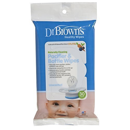 Dr. Brown's Pacifier and Bottle Wipes - 30 Pk (Pack of 3)
