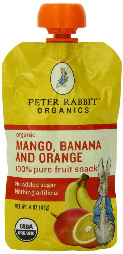 Peter Rabbit Organics Mango, Banana and Orange Snacks