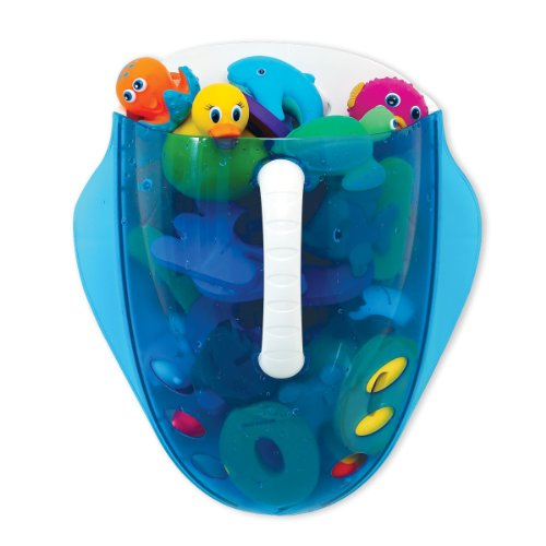 Munchkin Scoop Drain and Store Bath Toy Organizer, Blue