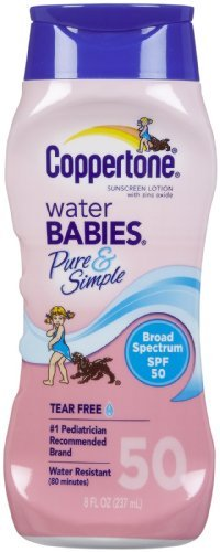 Coppertone Water Babies Sunscreen Lotion, Pure & Simple, SPF 50