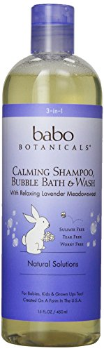 Babo Botanicals Lavender Meadowsweet 3 in 1 Bubble Bath Shampoo Wash