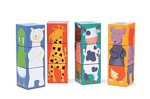 Djeco 12 Color Animal Blocks
