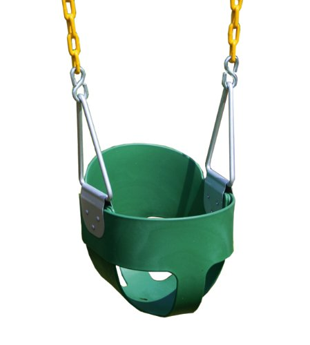 Eastern Jungle Gym High Back Full Bucket Swing With Coated Chain