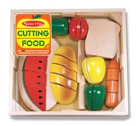 Melissa & Doug Wooden Cutting Food Set