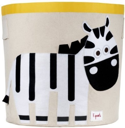 3 Sprouts Storage Bin, Zebra by 3 Sprouts
